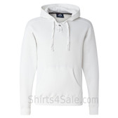 White Sport Lace Hooded Sweatshirt