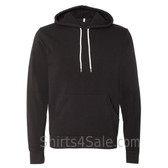 Black Unisex Poly/Cotton Hooded Pullover Sweatshirt