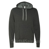 Dark Grey Heather Unisex Poly/Cotton Hooded Pullover Sweatshirt