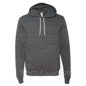 Dark Grey Marble Unisex Poly/Cotton Hooded Pullover Sweatshirt