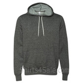 Digital Black Unisex Poly/Cotton Hooded Pullover Sweatshirt