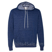 Digital Blue Unisex Poly/Cotton Hooded Pullover Sweatshirt