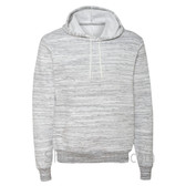 Light Grey Marble Unisex Poly/Cotton Hooded Pullover Sweatshirt