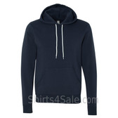 navy Unisex Poly/Cotton Hooded Pullover Sweatshirt