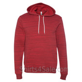 Red Marble Unisex Poly/Cotton Hooded Pullover Sweatshirt