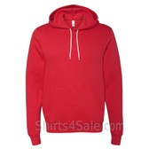 Red Unisex Poly/Cotton Hooded Pullover Sweatshirt