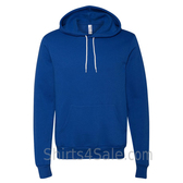 True Royal Blue Unisex Poly/Cotton Hooded Pullover Sweatshirt