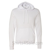 White Unisex Poly/Cotton Hooded Pullover Sweatshirt