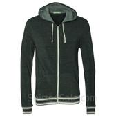 Eco Black Eco-Fleece Woody Full-Zip Hooded Sweatshirt