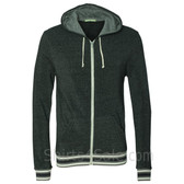 Eco Black Eco-Fleece Woody Full-Zip Hooded Sweatshirt