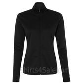 Black Ladies' Colorblocked Performance Full-Zip Sweatshirt