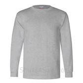 Grey USA-Made Long Sleeve T-Shirt