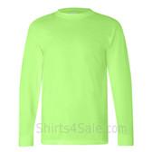 Lime Green USA-Made Long Sleeve T-Shirt