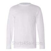 White USA-Made Long Sleeve T-Shirt
