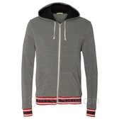 Eco Grey Eco-Fleece Woody Full-Zip Hooded Sweatshirt