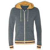 Eco Navy Eco-Fleece Woody Full-Zip Hooded Sweatshirt