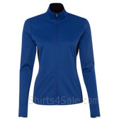 Blue Ladies' Colorblocked Performance Full-Zip Sweatshirt