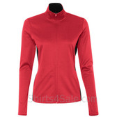 Scarlet Ladies' Colorblocked Performance Full-Zip Sweatshirt