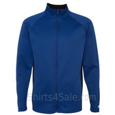 Blue Performance Colorblock Full-Zip Jacket