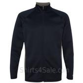 Navy Performance Colorblock Full-Zip Jacket