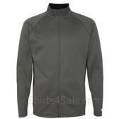 Stone Grey Performance Colorblock Full-Zip Jacket
