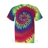 Rainbow Tie-Dyed Short Sleeve T-Shirt
