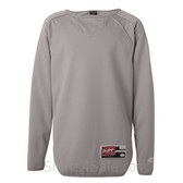 Rawlings - Light Gray Youth Long Sleeve Flatback Mesh Fleece Pullover