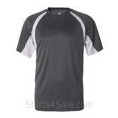 Badger Graphite / White Short Sleeve 2Tone Performance T-Shirt