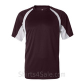 Badger Maroon / White Short Sleeve 2Tone Performance T-Shirt