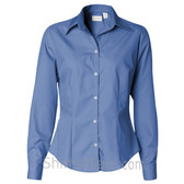 Pacific Blue Ladies' Silky Poplin collared shirt