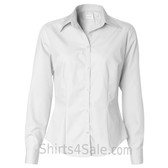 White Ladies' Silky Poplin collared shirt