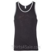 Black / Grey Recycled & Organic Double Ringer Men's Tank Top