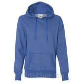 Blue Ladies' Glitter French Terry Hooded Pullover