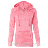 Deep Coral Hoodie SweatShirt for Women/Girls