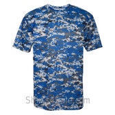 Blue Badger Men's Short Sleeve Sublimated Camo Tee