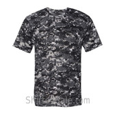 Charcoal Badger Men's Short Sleeve Sublimated Camo Tee