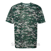 Dark Green Badger Men's Short Sleeve Sublimated Camo Tee