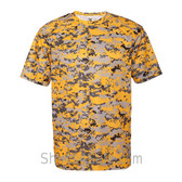 Gold Badger Men's Short Sleeve Sublimated Camo Tee