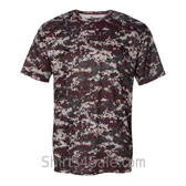 Maroon Badger Men's Short Sleeve Sublimated Camo Tee