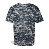 Navy Badger Men's Short Sleeve Sublimated Camo Tee