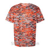 Orange Badger Men's Short Sleeve Sublimated Camo Tee