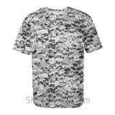 White Badger Men's Short Sleeve Sublimated Camo Tee