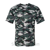 Badger Sport Adult Unisex Short Sleeve Camo Tee Shirt - Forest Green