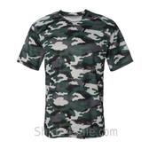 Badger Sport Adult Unisex Short Sleeve Camo Tee Shirt - Forest Green
