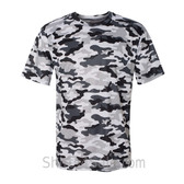 Badger Sport Adult Unisex Short Sleeve Camo Tee Shirt - White