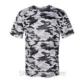 Badger Sport Adult Unisex Short Sleeve Camo Tee Shirt - White