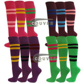 Adult Mid-sized 4Striped Sports/Softball Knee Socks