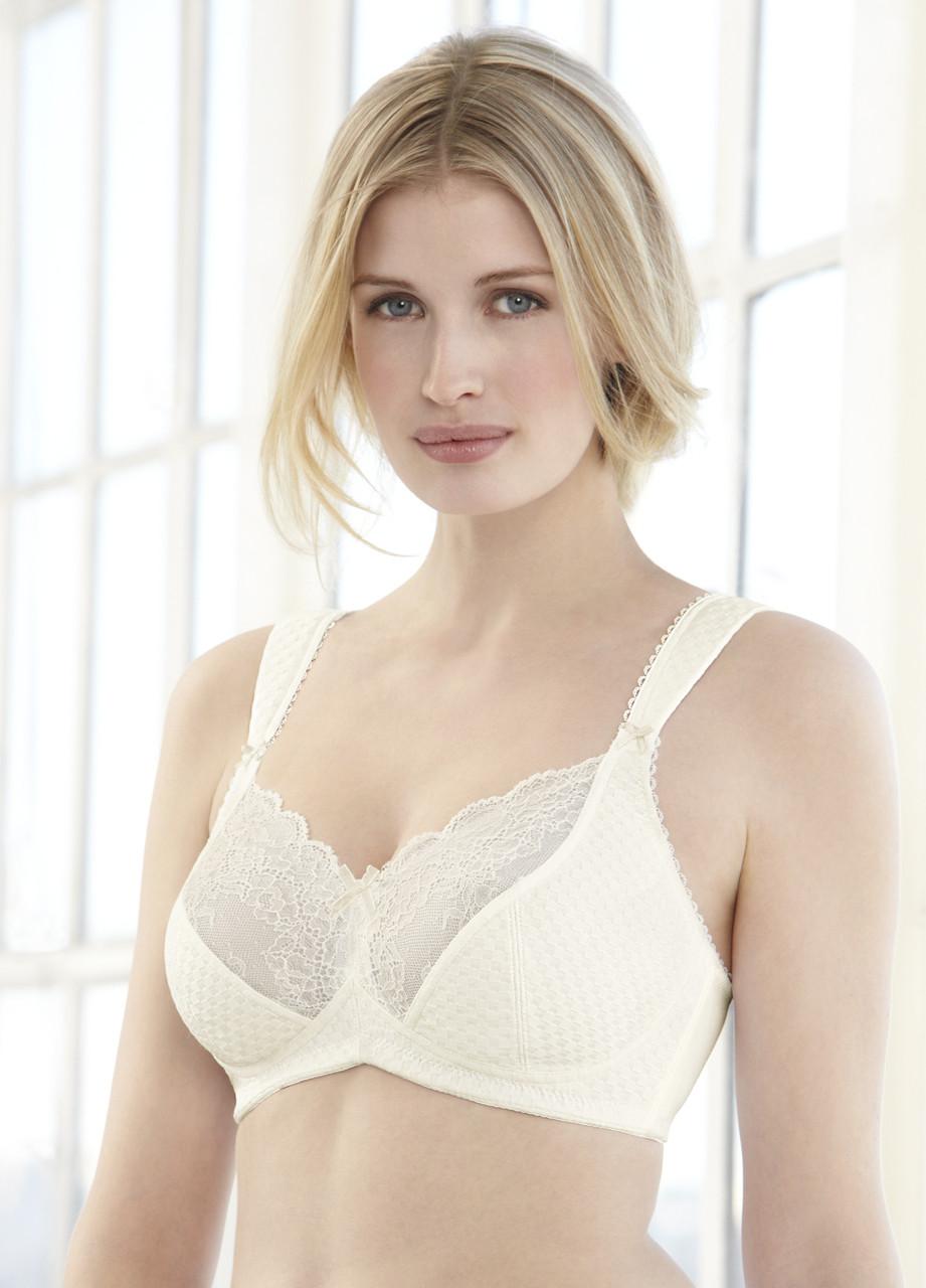1032de815a81f Glamorise Elegance Full-Figure Wide-Strap Support Bra Ivory ...