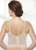 Glamorise Magic-Lift Long Line Support Bra Cafe - Back View