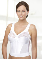 Glamorise Magic-Lift Long Line Support Bra White